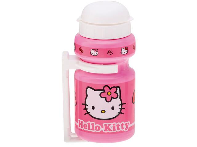 Bike Fashion Hello Kitty Trinkflasche 300ml mit Halter pink